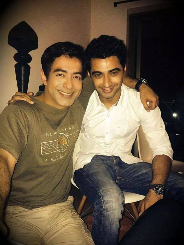 Photo of Harshad Arora & his friend actress  Vivek Madan -